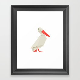 Origami Pelican Framed Art Print