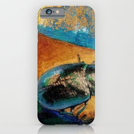 Gilded Beetle iPhone Case