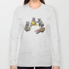 Racoon Tea Party Long Sleeve T-shirt