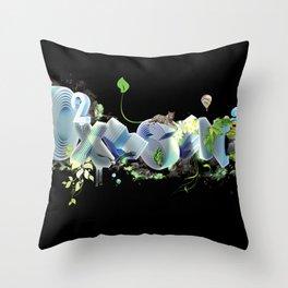 Oxygen CO2 Throw Pillow