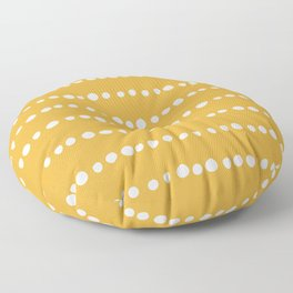 Spotted, Mudcloth, Mustard Yellow, Boho Prints Floor Pillow