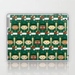 Baseball Green and Gold - Super cute sports stars Laptop & iPad Skin