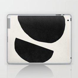 Abstract black shapes art, Mid century modern art Laptop & iPad Skin