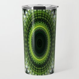 CHRISTMAS GREEN MANDELA CIRCLES FOR DECOR AND CLOTHING 2020 Travel Mug