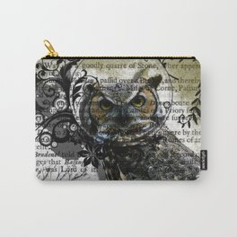 Nature Series Wise Owl By Moon Willow Designs Carry-All Pouch