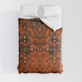N151 - Orange Oriental Vintage Traditional Moroccan Style Artwork Comforters