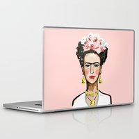 frida kahlo Laptop & iPad Skins featuring Frida Kahlo by devinepaintings