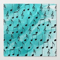 music notes Canvas Prints featuring Music notes by Gaspar Avila