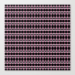 Pink Flamingos Art Deco Pattern Canvas Print