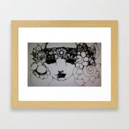 Pretty Face Framed Art Print