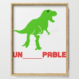 I am Unstoppable Funny T-Rex Jurassic Jura Design Serving Tray