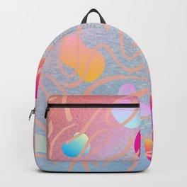 Unicorn rainbow jelly pastel color block pattern Backpack