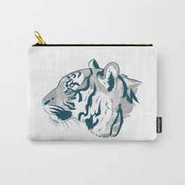 Grayscale Tiger Carry-All Pouch