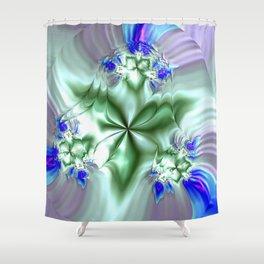Fractal Flora Shower Curtain