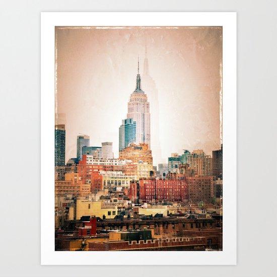 NYC Vintage style Art Print