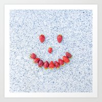 Strawberry Smile Art Print