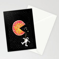 Take out pizza moon Stationery Cards