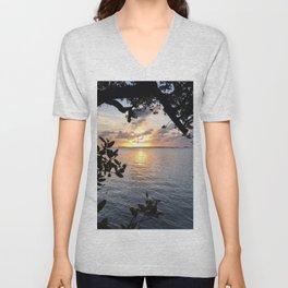Sunset Key Largo Unisex V-Neck