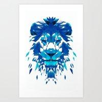 Ice Lion Art Print
