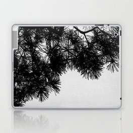 Pine Tree Black & White Laptop & iPad Skin