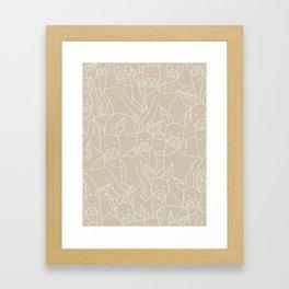 Minimalist Kangaroo Framed Art Print