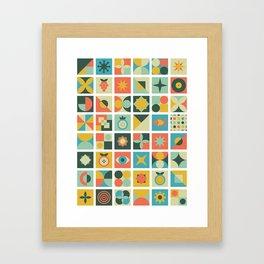 Geometric pattern #2 Framed Art Print