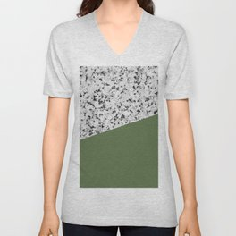 Granite and Kale Color Unisex V-Neck