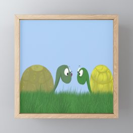 Ellie and Ollie, and Their New Friend Framed Mini Art Print