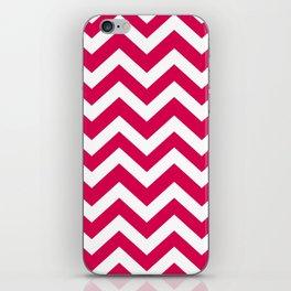 UA red - fuchsia color - Zigzag Chevron Pattern iPhone Skin