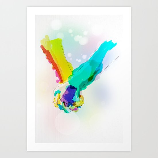 Forget the Words Art Print