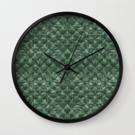 Quilted Forest Green Velvety Pattern Wall Clock