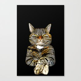 cat like a boss vector art Canvas Print