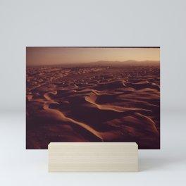 A HUNDRED-MILE RIBBON OF SAND DUNES Mini Art Print