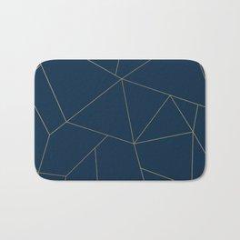 Golden Crystal Web Pattern Bath Mat