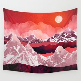 Scarlet Glow Wall Tapestry