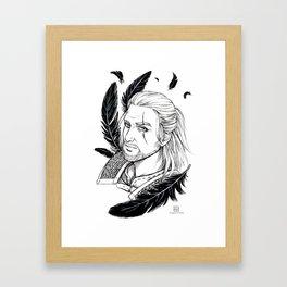 Geralt of Rivia Framed Art Print