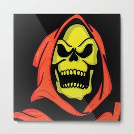 Halloween Skeletor Metal Print