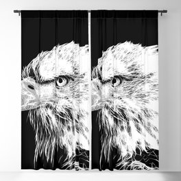 bald eagle 03 neon lines white Blackout Curtain