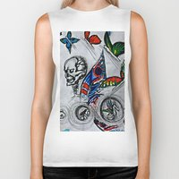 cycle Biker Tanks featuring cycle by Maithili Jha