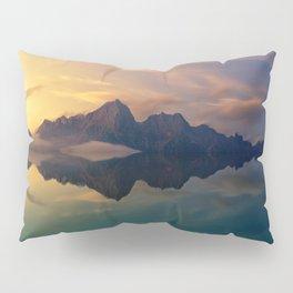Fantasy mountain reflection Pillow Sham