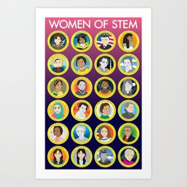 Women of STEM Art Print