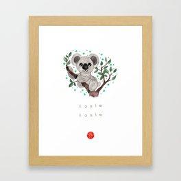 Koala Nursery Illustration Framed Art Print