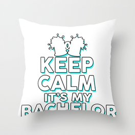 Bachelor Party Cool Groom Stag Party Funny Gift Throw Pillow