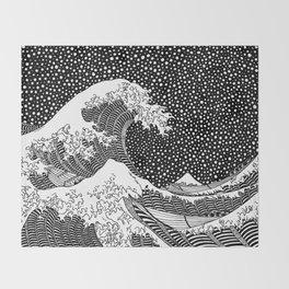 The wave of Hokusai Throw Blanket