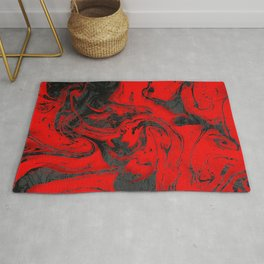 Black & Red Marble I Rug