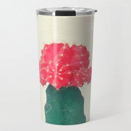 Red Plaid Cactus Travel Mug