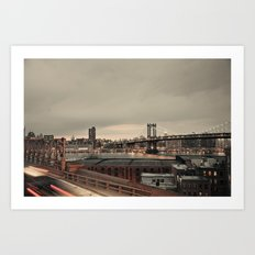 the city never sleeps:: nyc Art Print
