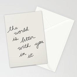 Better With You Stationery Cards