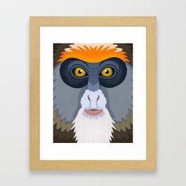 De Brazza's Monkey Framed Art Print