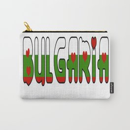Bulgaria Font #2 with Bulgarian Flag Carry-All Pouch